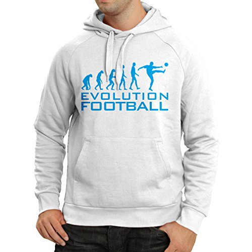 fan products of N4466H Hoodie The Evolution Football (Medium White Blue)