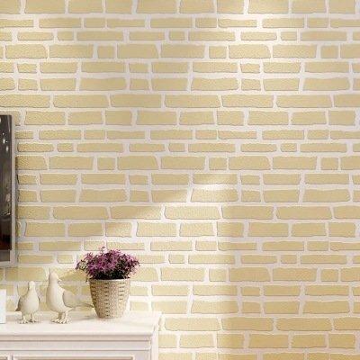 MOMO Patrón de ladrillo 3D no Tejido Simple patrón de ladrillo Moderno Ropa de Hombre y Mujer Tienda Fondo de Papel Tapiz fotográfico,A11,53 * 1000 cm
