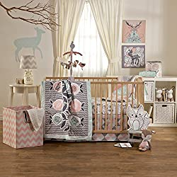 Lolli Living Sparrow 4-Piece Crib Set - Colorful Bedding Coordinates For Baby Nursery, Flower for girls