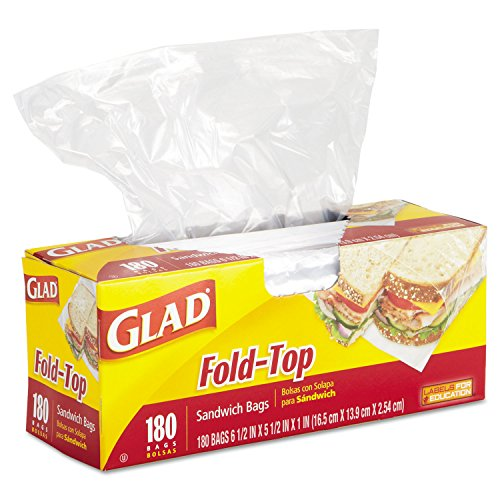 LAGASSE INC. Product # CLO60771 - OPEN MOUTH SANDWICH BAG 180 PK (ADC offered unit is Case) (Top Sandwich Unit)