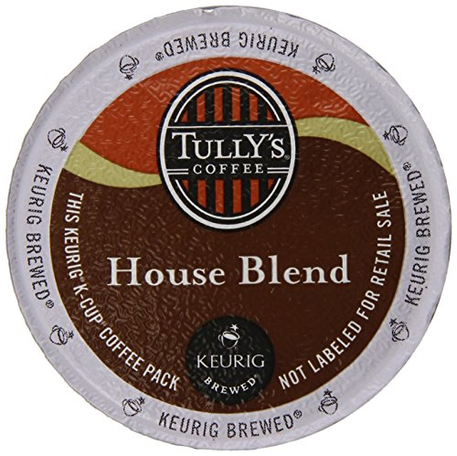 Keurig, Tully's, House Blend, K-Cup Counts, 50 Count Medium House