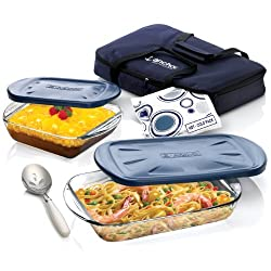 Anchor Hocking 6-Piece Essentials Ovenware Set with Tote Bag and Hot/Cold Pack