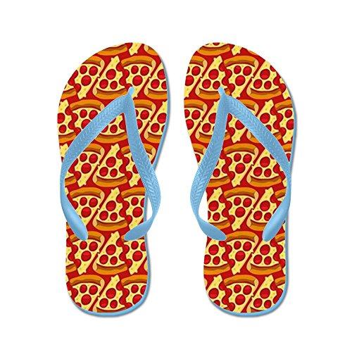 Cafepress Pizza Motif Emoji - Tongs, Sandales String Drôle, Sandales De Plage Bleu Caraïbes