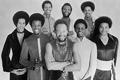 Earth, Wind & Fire in Concert smiling 1970