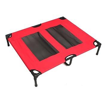 Cama elástica de cama de mascota Perro Gato Cachorro Heavy Duty marco hamaca cuna cubierta: Amazon.es: Productos para mascotas
