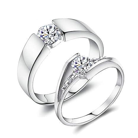 Anillo de compromiso de diamantes simulados de Moissanite de ...
