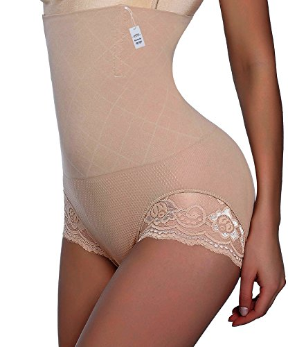 Gotoly Invisable Strapless Body Shaper High Waist Tummy Control Butt Lifter Panty Slim (XL/2XL, Beige(Lift up Hips))