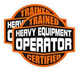 (2) HEAVY EQUIPMENT OPERATOR Trained Certified Hard Hat Stickers | Motorcycle Helmet Decals Labels Crane Bulldozer Excavator Truck Construction Badass
