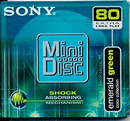 Sony Emerald Green 80 Mini Disc Color Collection