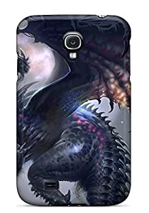 Galaxy S4 Case Cover - Slim Fit Tpu Protector Shock Absorbent Case (dark Dragon)