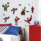 Marvel Superhero Comic - The Avengers X-Men Super Hero Squad Wall Decals - Spider-Man, Iron-Man, Thor, Wolverine, Fantastic 4, Captain America, Hulk, Silver Surfer