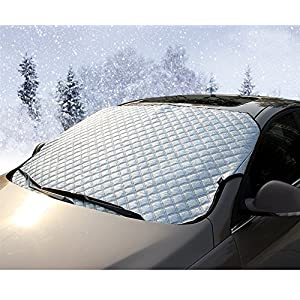 Car Windshield Snow Cover,Universal Sun Shade Cover,Jumbo Frost Snow Collapsible Hail Windshield Cover for Car,Winter Windshield Protector Suitable for Most Vehicle