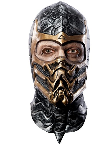 (Mortal Kombat Deluxe Overhead Scorpion Mask, Brown, One Size)