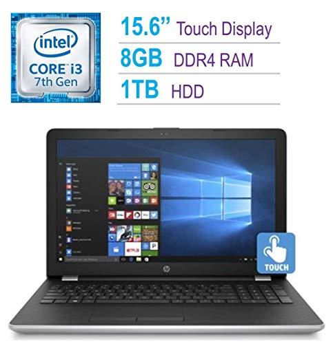 Newest HP 15.6-inch HD Touchscreen Display Laptop PC, Intel Dual Core i3-7100U 2.4GHz Processor, 8GB DDR4 SDRAM, 1TB HDD, Bluetooth, HDMI, 802.11ac WiFi, DVD +/- RW, Windows 10-Natural Silver ()