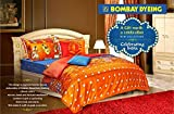 Bombay Dyeing Celebrating India 100%Cotton Double Bedsheet with 2 Pillow Covers-Orange