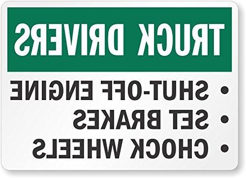 Yetta Quiller Stylish Aluminum Sign, Legend Truck Drivers Shut-Off Engine, 12 high x 16 ()