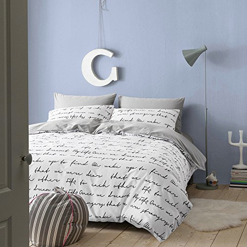 BuLuTu Love Letters screen-print Cotton Duvet Covers