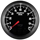 Auto Meter 5697 Elite Series 3-3/8'' 0-10000 RPM In-Dash Street Progressive Shift Light Tach Tachometer