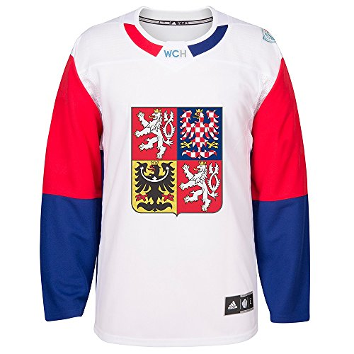 adidas Czech Republic NHL White 2016 World Cup of Hockey Premier Away Jersey for Men (XL)