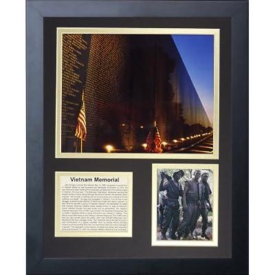"Legends Never Die ""Vietnam Veterans Memorial"" Framed Photo Collage, 11 x 14-Inch by Legends Never Die"