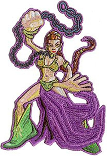 "Price comparison product image Star Wars / Clone Wars Lucas Movie Iron on Patch - 4.5"" Slave Princess Leia w/ Chain"