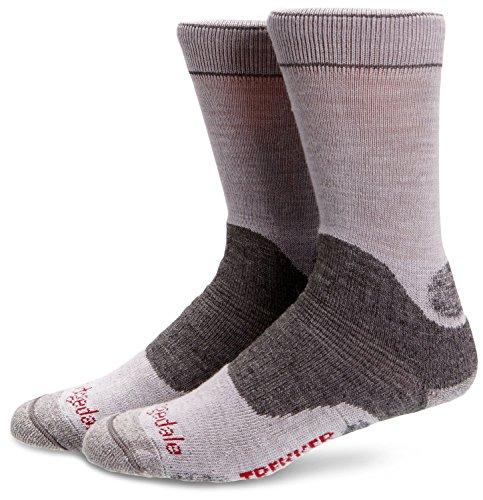 Bridgedale Womens Trekker Wool Fusion Socks, Medium, Silver/Grey with Sock Ring