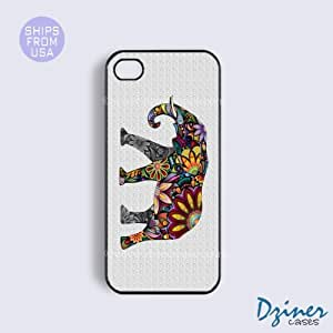 iPhone 6 Plus Tough Case - 5.5 inch model - Colorful Elephant iPhone Cover