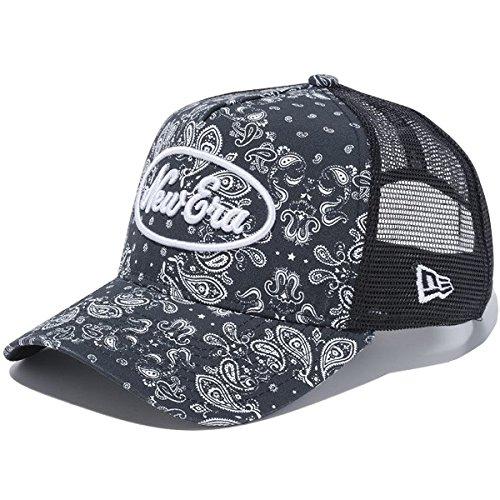 ニューエラ ゴルフ 9FORTY A-Frameトラッカー メッシュキャップ NEW ERA GOLF 帽子 ペイズリー New Era ロゴ ブラック