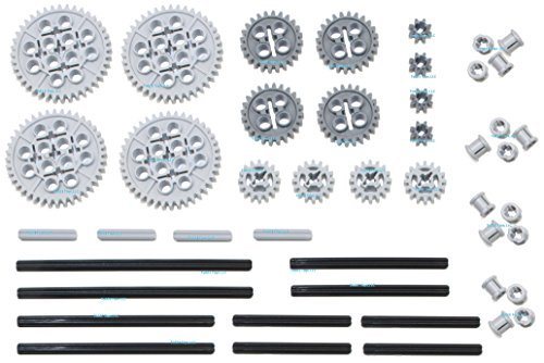 LEGO 46pc Technic gear & axle SET (Works with Mindstorms NXT, EV3, Bionicles and more LEGO creations!)