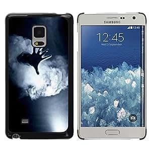 TopCaseStore / la caja del caucho duro de la cubierta de protección de la piel - Fog Black White Deep Meaning - Samsung Galaxy Mega 5.8 9150 9152