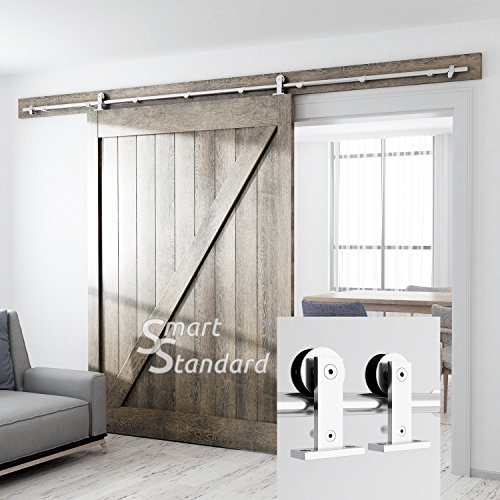 10ft Heavy Duty Sturdy Sliding Barn Door Hardware Kit - Super Smoothly and Quietly - Simple and Easy to Install - Includes Step-by-Step Installation Instruction -Fit 60'' Wide Door Panel by SMARTSTANDARD (Image #5)