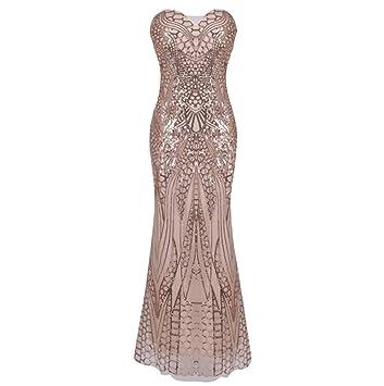 bf961c35c2124 Robe sans Bretelles pour Femme Thème des Années 20 Vintage Gatsby ...