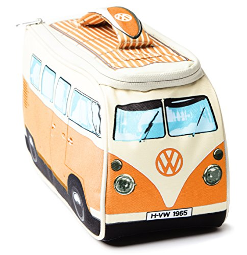 VW Volkswagen T1 Camper Van Lunch Bag - Orange - Multiple Color Options Available (Orange Lunch)