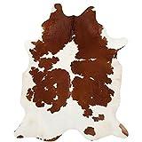 A-STAR (TM) Genuine Cowhides Brown And White