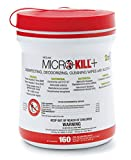 Medline MSC351200 Micro Kill Plus Disinfectant, 6'' x 6.76'' Wipes (Pack of 12)