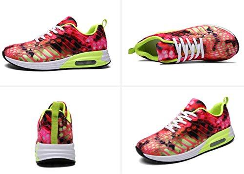 GFONE - Zapatos de tacón  mujer, color rojo, talla 40 EU