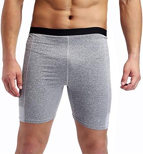 短いフィットネス メンズフィットネス実行トレーニングパンツ短冊ステッチ速乾性ショーツ スポーツショーツ (色 : グレー, Size : XL)