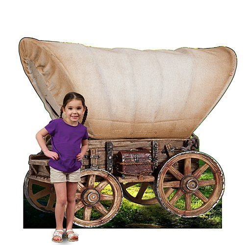 (4 ft. 8 in. Western Cowboy Pioneer Wagon Standee Standup Photo Booth Prop Background Backdrop Party Decoration Decor Scene Setter Cardboard Cutout)
