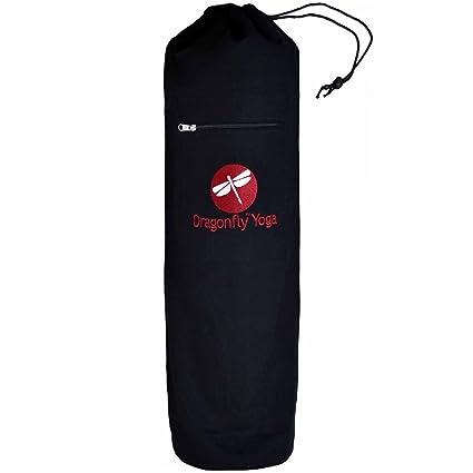 Amazon.com : DRAGONFLY YOGA Top-Loading Yoga Mat Bag Black ...