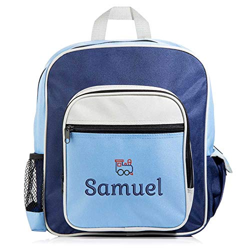 Lifetime Creations Personalized Backpack - Embroidered Kid's Backpack, Toddler Backpack (Blue/Navy) -