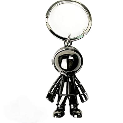 Astronaut Keychain Pendant, Metal Keyring Space Robot Car Key Holder for Men/Women, Father, Space lover Gifts, Bag charm