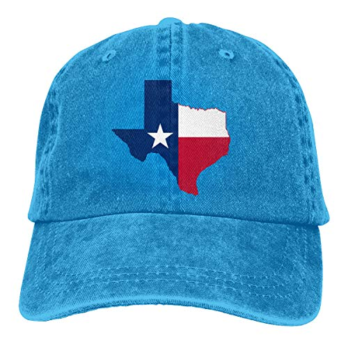 (HIPGCC Mens and Womens Unisex Texas Twill Washed Cotton Adjustable Baseball Cap Hat Blue)