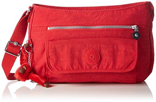 Kipling Syro, sac à bandoulière femme, 31x22x12,5 cm rouge (ref35j rouge vibrant)