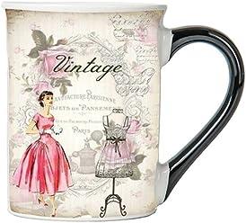 Vintage (Vintage Lady) Mug, Vintage Coffee Cup, Ceramic Vintage Mug, Vintage Gifts By Tumbleweed