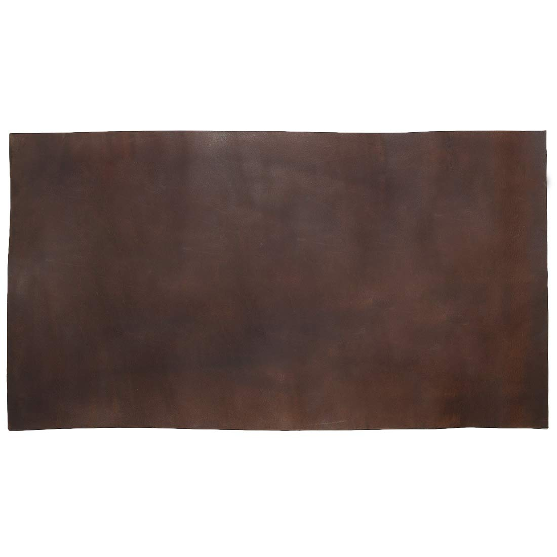 Thick Leather Square (10 x 18 in.) for Crafts/Tooling/Hobby Workshop, Heavy Weight (3.5mm) by Hide & Drink :: Bourbon Brown