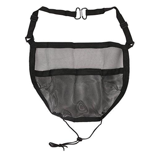 [Universal Car Seat Storage Mesh/Organizer, SEANUT Car Seat Mesh Cargo Net Holder Phone Bag Children Kids Pets Disturb Stopper, Black] (Purses Net)