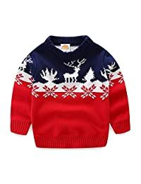 Mud Kingdom Boys Christmas Sweaters Xmas Reindeer Clothes