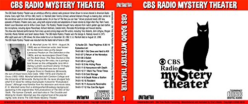 CBS RADIO MYSTERY THEATER Collection 1 - BOX SETS 1 and 2 - 24 Audio CD - 24 Shows – Episodes 1 to 24