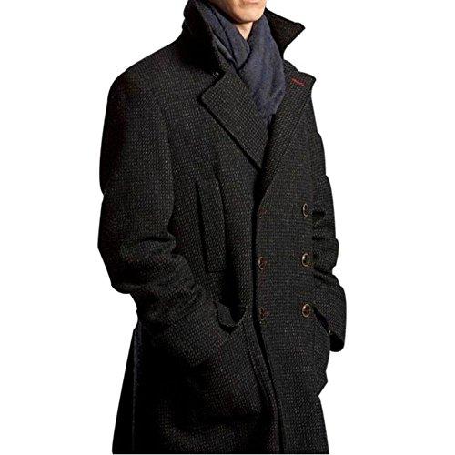 Benedict Cumberbatch Sherlock Holmes Costume Gift Ideas Grey Fabric Coat For Him S