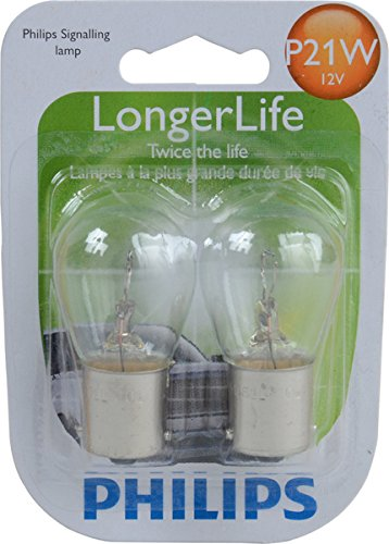Gti Cup Car - Philips P21W LongerLife Miniature Bulb, 2 Pack